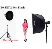 BỘ SET 2 ĐÈN FLASH STUDIO